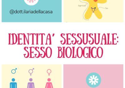 Identità sessuale : INIZIAMO IL PUZZLE CON IL SESSO BIOLOGICO